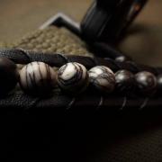 Bracelet zebra basanite iaspidem (jasper/jaspis)